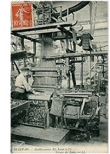 Worker in a Savonnerie factory in the 19th century